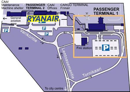Схема аэропорта Tampere